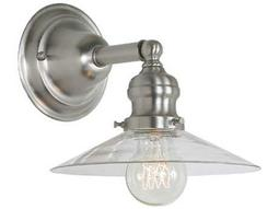 JVI Design Union Square Pewter with Clear Glass Wall Sconce