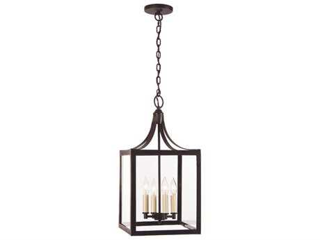 JVI Designs Columbia Arc Polished Nickel Four-Light Pendant Light