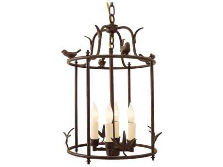 JVI Designs Hanging Bird Cage Four-Light 14'' Wide Pendant