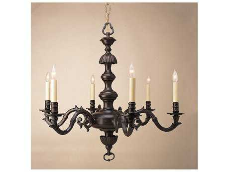 JVI Designs Bird Pewter Six-Light Chandelier