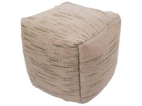 Jaipur Rugs Alma Sandshell Cube Pouf