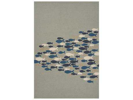 Jaipur Rugs Coastal Lagoon Go Fish Rectangular Cameo Green Area Rug