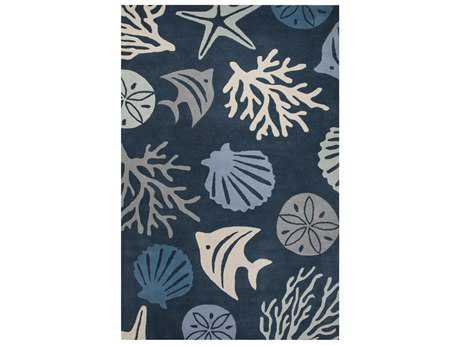 Jaipur Rugs Coastal Seaside Aquarium Rectangular Ice Flow Area Rug