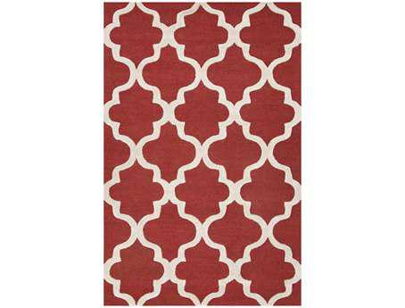 Jaipur Rugs City Miami Rectangular Velvet Red Area Rug