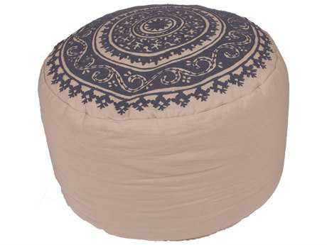Jaipur Rugs Inspired By Jennifer Adams Lace Vintage Indigo Cylindrical Pouf