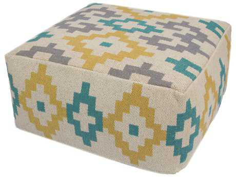 Jaipur Rugs Traditions Made Modern Turtledove Cuboid Pouf