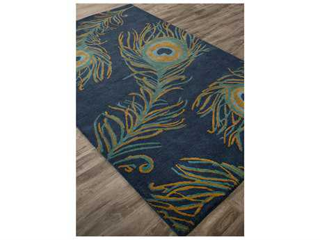 Jaipur Rugs National Geographic Home Collection Tufted Peacock Rectangular Blue Ashes Area Rug