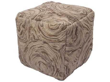 Jaipur Rugs National Geographic Home Frozen Dew Square Pouf