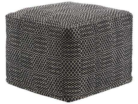 Jaipur Rugs National Geographic Caviar Square Pouf