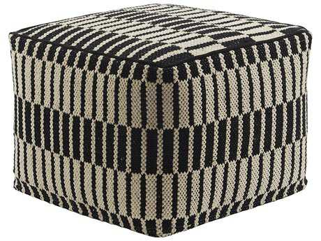 Jaipur Rugs National Geographic Antique White Square Pouf