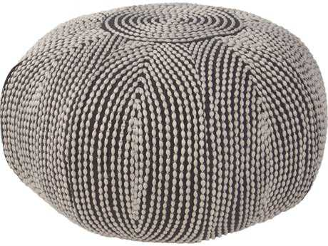 Jaipur Rugs Pasco By Rug Republic Bugatti Oyster Gray Round Pouf