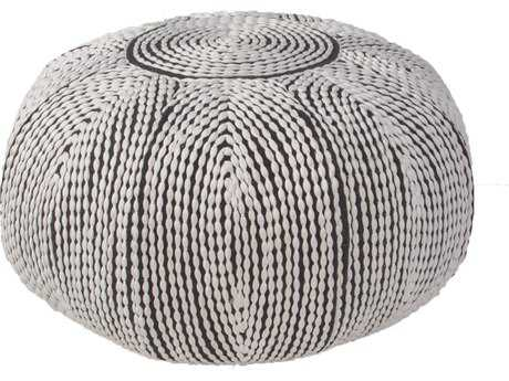 Jaipur Rugs Pasco By Rug Republic Bugatti Star White Round Pouf