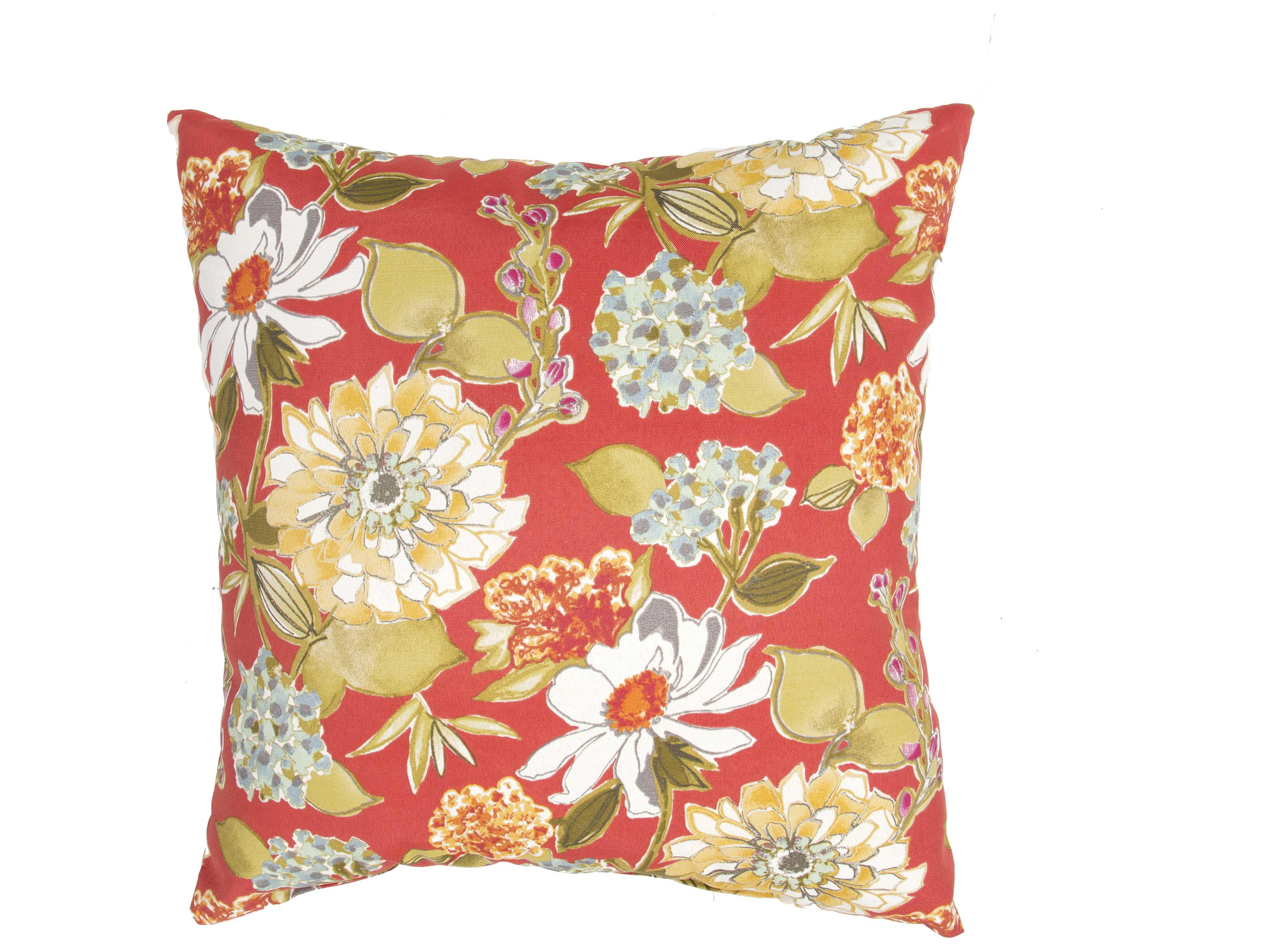Jeep Throw Pillows : Jaipur Rugs Veranda Red Clay Square Pillow JPVER53