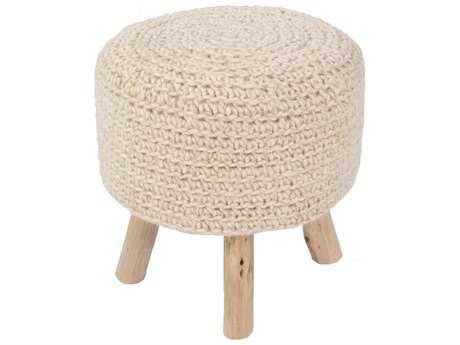Jaipur Rugs Westport By Rug Republic Montana Stool Bleached Sand Cylindrical Accent Stool