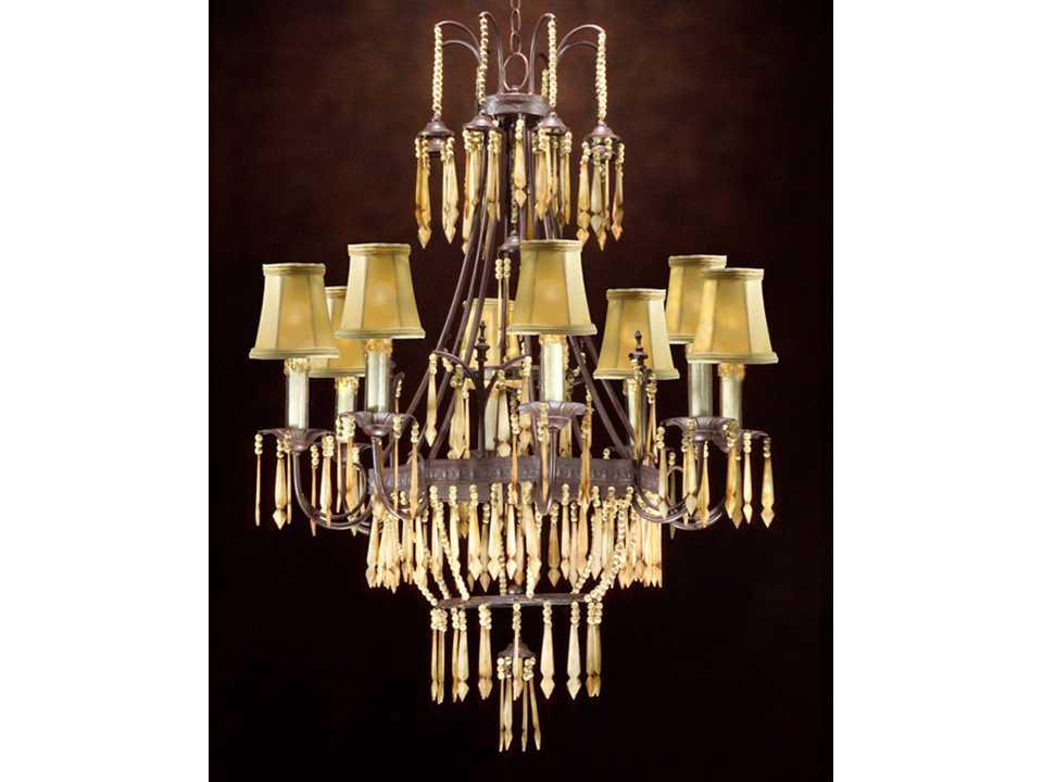 john richard french beige eight light 28 39 39 wide chandelier. Black Bedroom Furniture Sets. Home Design Ideas