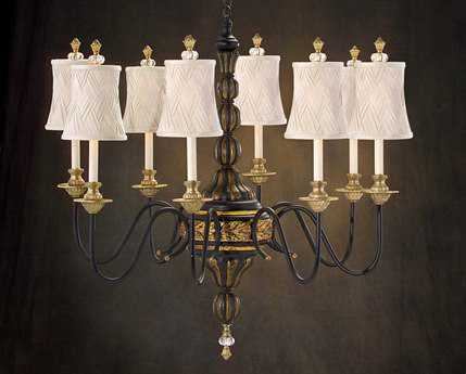 John Richard Gold Eight-Light 36'' Wide Chandelier