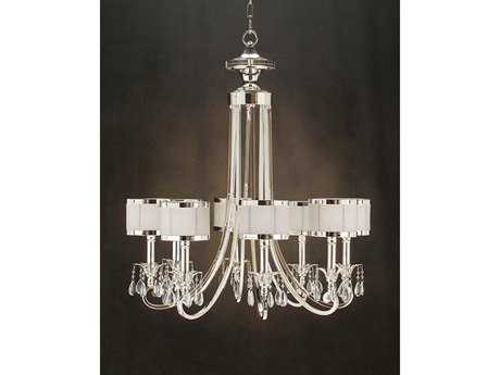 John Richard Silver-Glass Accent Eight-Light 31'' Wide Chandelier