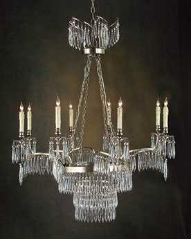 John Richard Silver Plated Eight-Light 35'' Wide Grand Chandelier