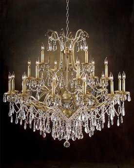 John Richard Hotel Warwick Twenty-One Light Grand 48'' Wide Chandelier