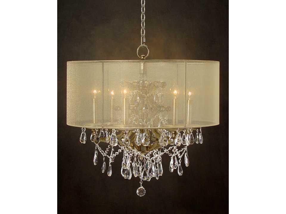 john richard sheer metallic six light 27 39 39 wide chandelier. Black Bedroom Furniture Sets. Home Design Ideas