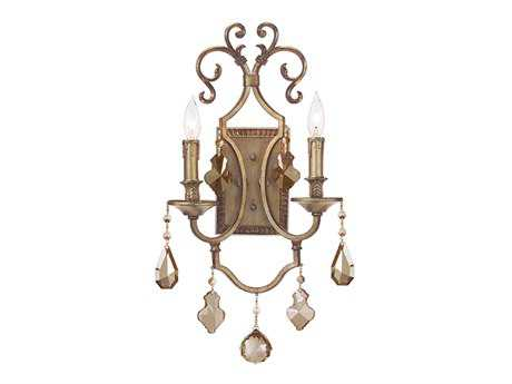 John Richard Champagne Gold Two-Light Wall Sconce
