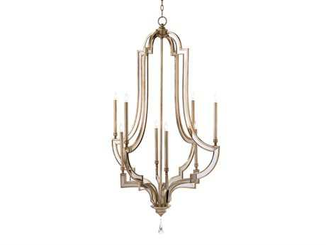 John Richard Reflections Eight-Light 34'' Wide Grand Chandelier