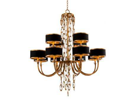 John Richard Black Tie With Gold 12-Light 41'' Wide Grand Chandelier