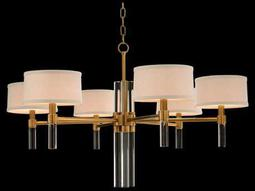 Glass Spear Six-Bulb Chandelier