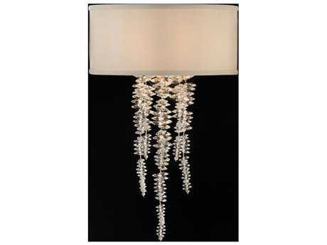 John Richard Cascading Crystal Waterfall Pendant Wall Sconce
