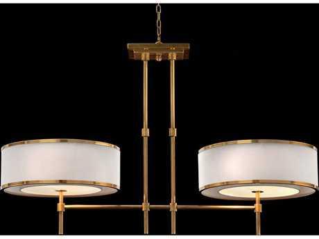 John Richard  Brass Banded Two-Bulb Island Light