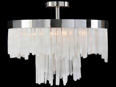 John Richard Natural Selenite Two-Tier Four-Light 20'' Wide Semi-Flush Mount Light