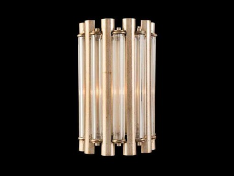 John Richard Mark McDowell Crystal Tube Coupe Silver Wall Sconce