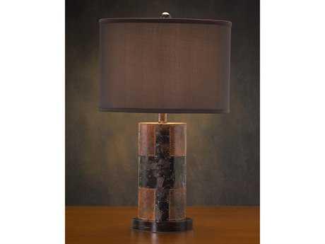 John Richard Faux Brown - Stone Composition Table Lamp