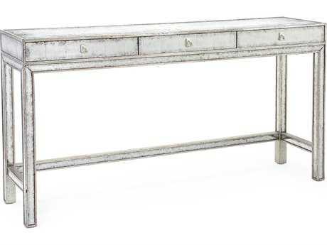 John Richard Silver Eglomise 68 x 16 Rectangular Console Table