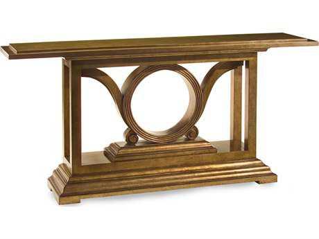John Richard Champagne Bronze Savory 78 x 16 Rectangular Console Table