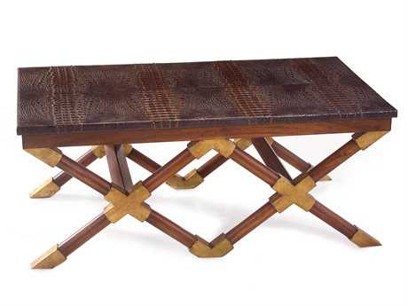 John Richard 49 x 28 Crocodile Top Cocktail Table