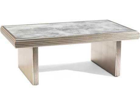 John Richard Rivoli Distressed Silver 54'' x 30'' Cocktail Table