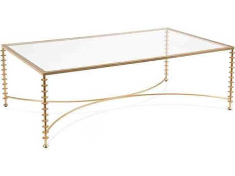 John Richard Welbeck Gold 56.5'' x 34.5'' Rectangular Cocktail Table