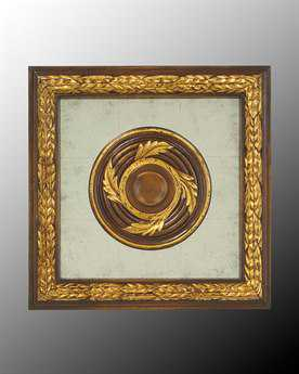 John Richard Wood Frame With Center Decoration On Egliomise III Painting