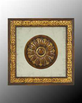 John Richard Wood Frame With Center Decoration On Egliomise IV  Painting