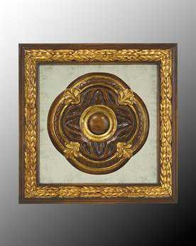 John Richard Wood Frame With Center Decoration On Egliomise V Painting