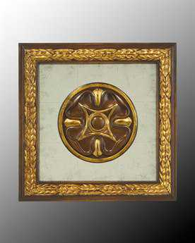 John Richard Wood Frame With Center Decoration On Egliomise VII Painting