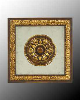 John Richard Wood Frame With Center Decoration On Egliomise IX Painting