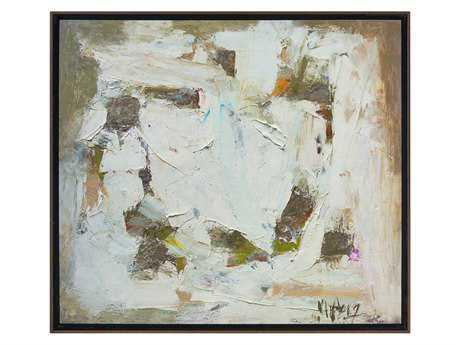 John Richard White Circle Painting