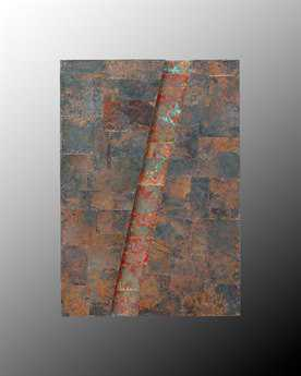 John Richard 1 Diagonal Copper Wall Art