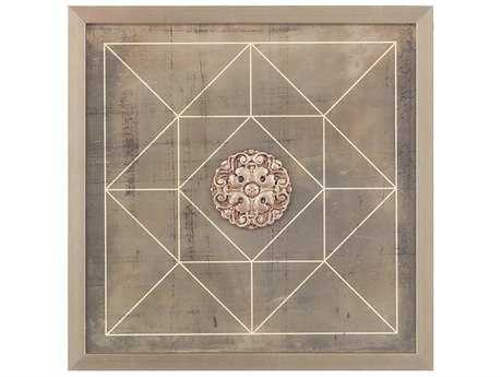 John Richard Geometric Blueprint III Painting