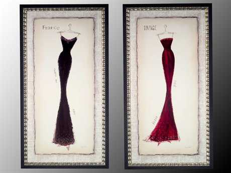 John Richard Framed Dress Prints Painting (Two-Piece Set)