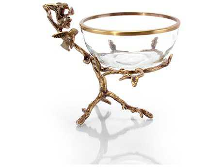John Richard Brass And Glass Bowl