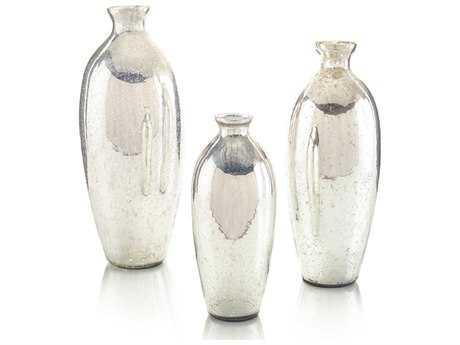 John Richard Mercury Glass Vases (Three-Piece Set)