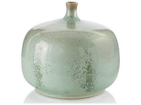 John Richard Jar In Reactive Green Glaze